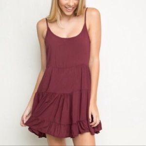 BRANDY MELVILLE BURGUNDY SWING DRESS SUPER CUTE OS